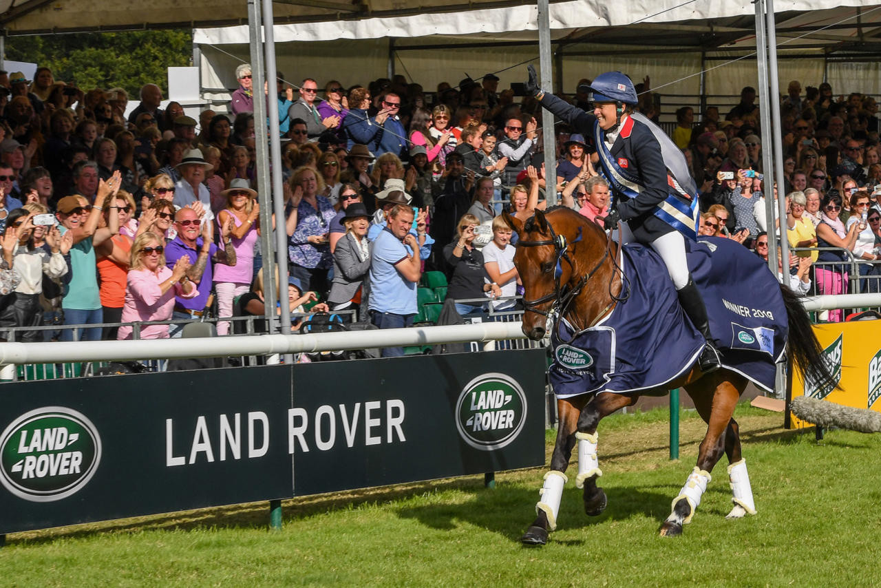 Pippa Funnel wins the Landrover Burghley Horse Trials!