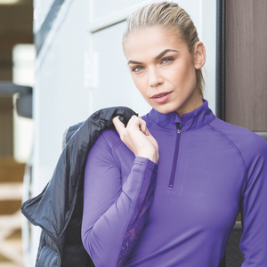 Mesh with beauty.  The Isabella training shirt …