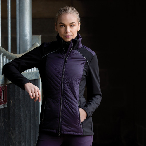 Apollo Quilted Softshell Jacket - Blackberry/Black XS