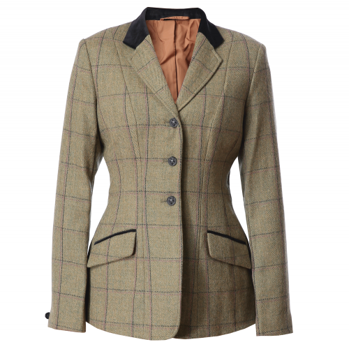 Adstock Deluxe Tweed Riding Jacket - Green (Lilac/Navy check) 32