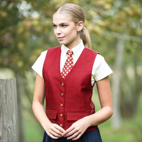 Jacquard Classic Waistcoat - Red