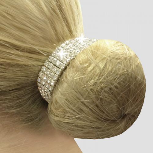 Crystal Bun Ring Scrunchies