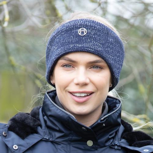 Contrast Knit Headband - Navy O/S