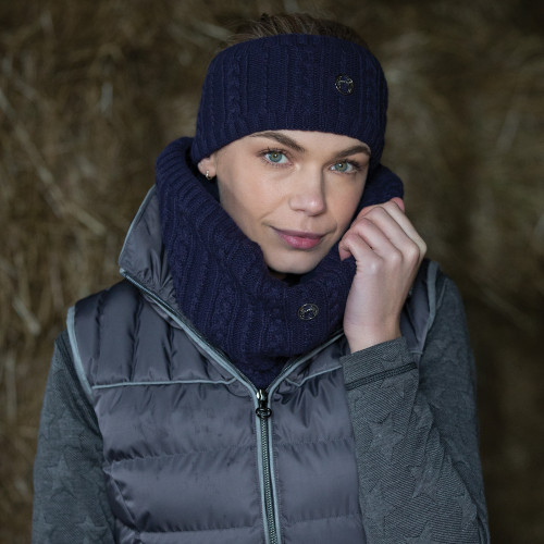 Cable Twist Knit Snood - Blackberry O/S