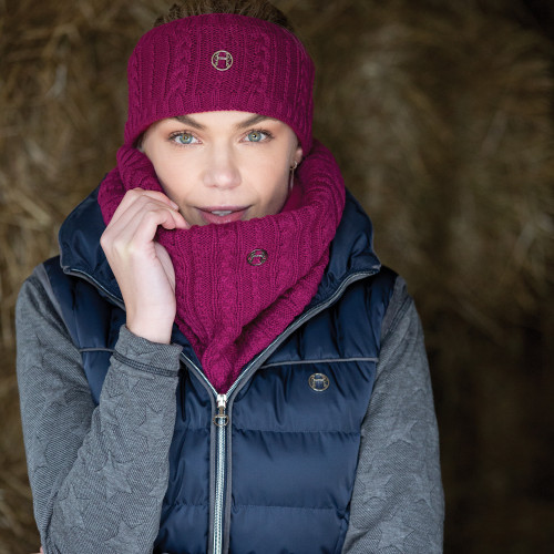 Cable Twist Knit Snood - Ruby O/S