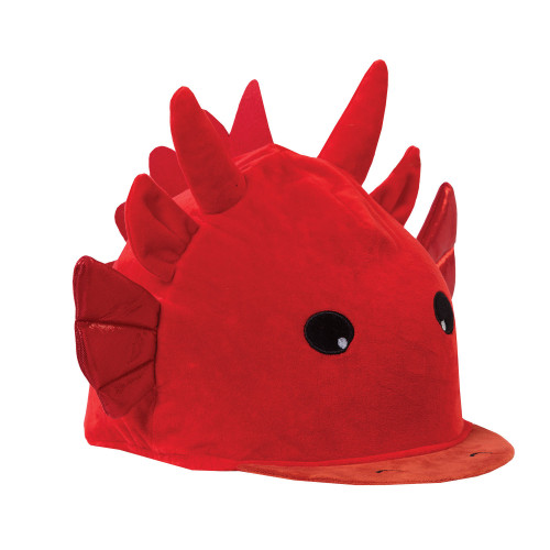 Childs Dylan Dragon Hat Silk - Red O/S