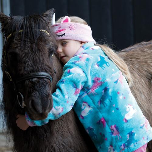 Dinky Rider Unicorn Fleece - Turquoise L