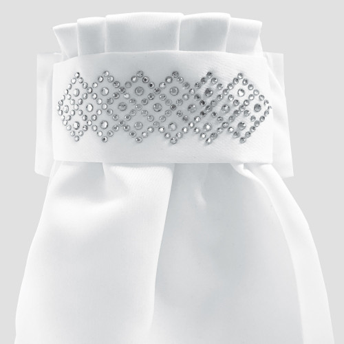 Deluxe Ready-Tied Stocks - Solitaire White