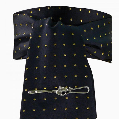 Riding Stock - Pin Spot Navy/Metallic Gold (one size)