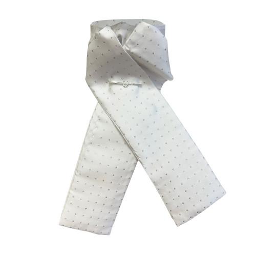 Pin Spot Riding Stock - White/Silver
