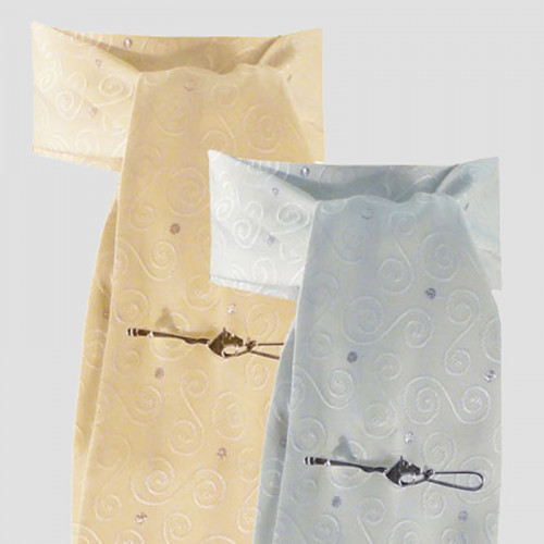 Riding Stock - Fancy Brocade Cream/Gold (one size)
