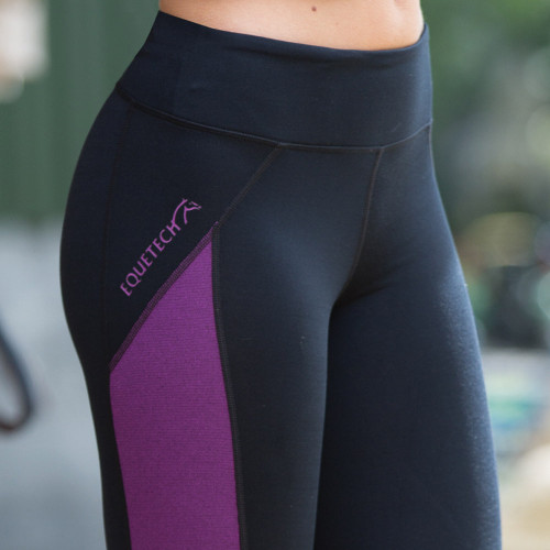 Freedom Riding Tights - Black/Mulberry