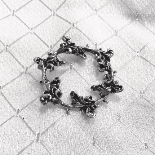 Floret Stock Pin - Silver