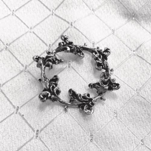 Floret Stock Pin - Silver
