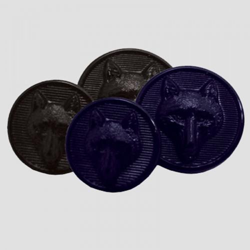 Foxhead  Button Set (8 pieces) - Black