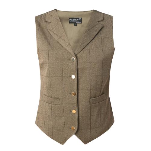 Foxbury Tweed Lapel Waistcoat - Olive 34