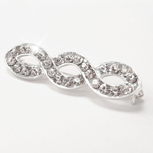 Helix Crystal Stock Pin - Silver