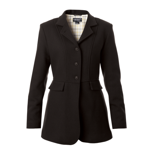 Ladies Hunt Wool Frock Coat - Black