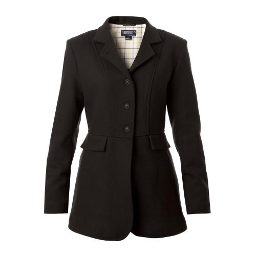 Ladies Hunt Wool Frock Coat - Black