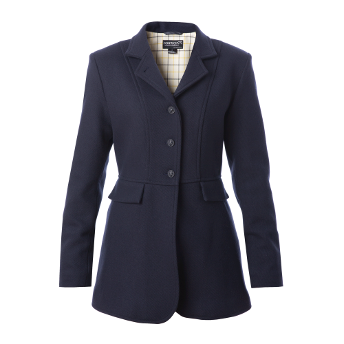 Ladies Hunt Wool Frock Coat - Navy
