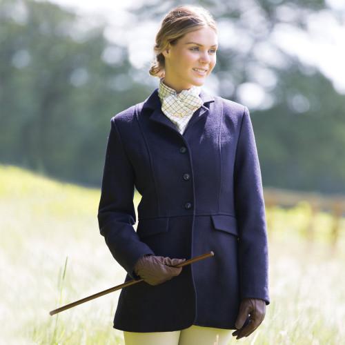 Ladies Hunt Wool Frock Coat - Navy