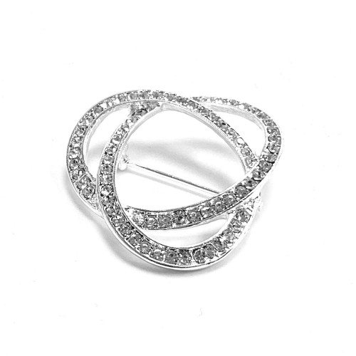 Infinity Stock Pin - Silver/Crystal