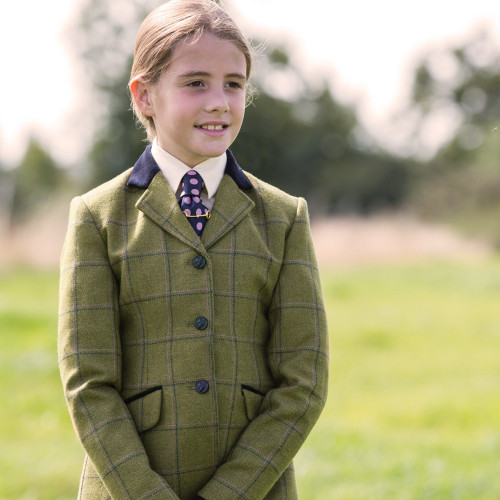 Junior Adstock Deluxe Tweed Riding Jacket