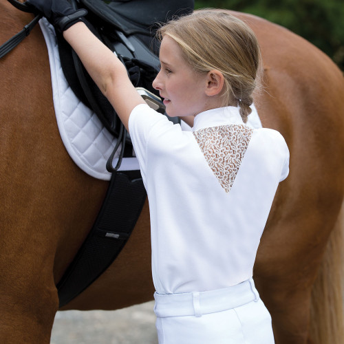 Junior Bella Lace Competition Shirt - White 28