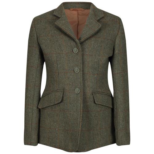 Childs Claydon Tweed Riding Jacket - Green  22