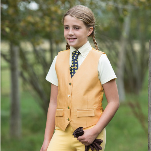 Junior Jacquard Classic Waistcoat - Green