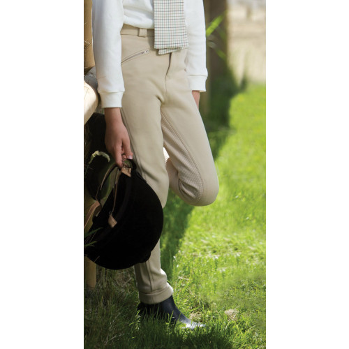 Junior Grip Seat Jodhpurs - Beige 22
