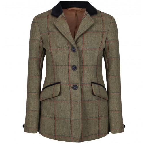 Childs Launton Deluxe Tweed Riding Jacket - Green 22