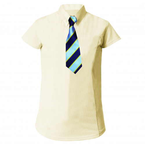 Equetech Short Sleeved Stretch Kids Shirt Competition Soft Yellow All Sizes