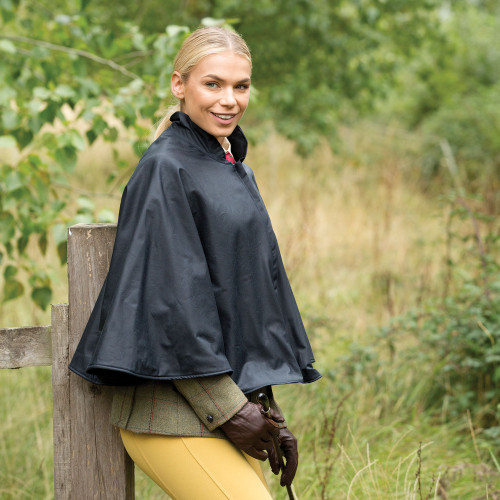 Ladies Wax Show Cape - Navy O/S