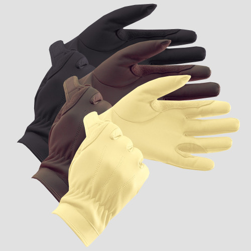 Leather Show Gloves - Adults Black 6.5