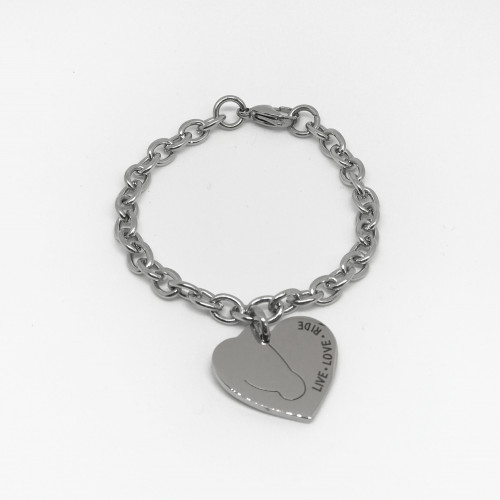 Love My Horse Bracelet - Silver