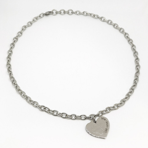 Love My Horse Necklace - Silver