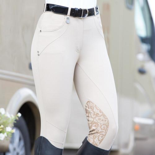 Interlace Breeches - White 34