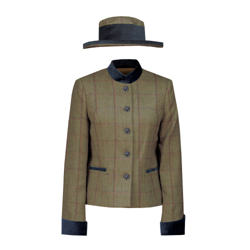 Launton Tweed Leaders Jacket & Hat - Green 34