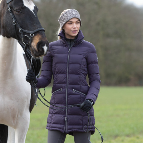 Lexi Long Quilted Packable Coat - Blackberry XS