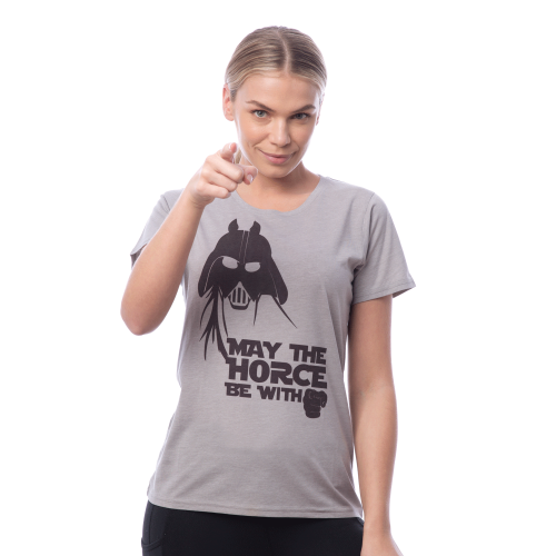 May the horse Tee - Grey XS