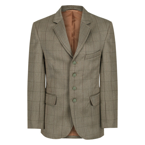 Mens Foxbury Tweed Riding Jacket - Olive Green 38