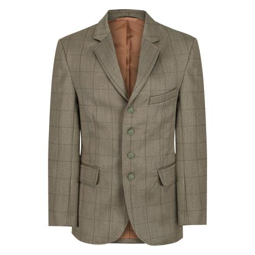 Boys Foxbury Tweed Riding Jacket - Olive Green 34