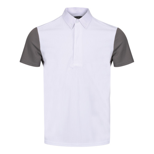 Mens Waffle Competition Shirt - White/Grey S