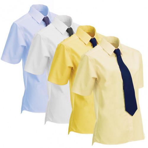 Junior Stretch Show Shirt (Short Sleeved) - Soft Yellow 24
