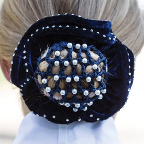 Pearl Bun Net - Black