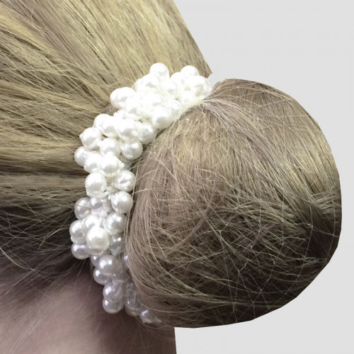 Pearl Beaded Scrunchie - Ivory
