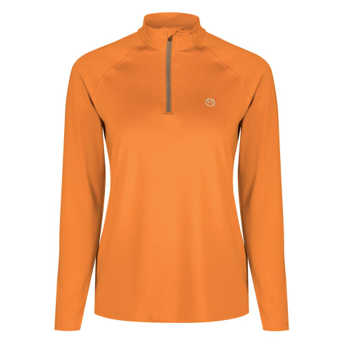 Power Mesh Riding Base Layer - Tangerine