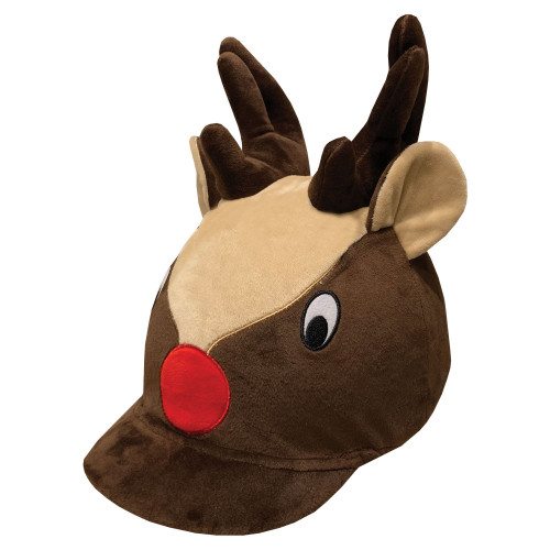 Childs Reindeer Hat Silk - Brown O/S