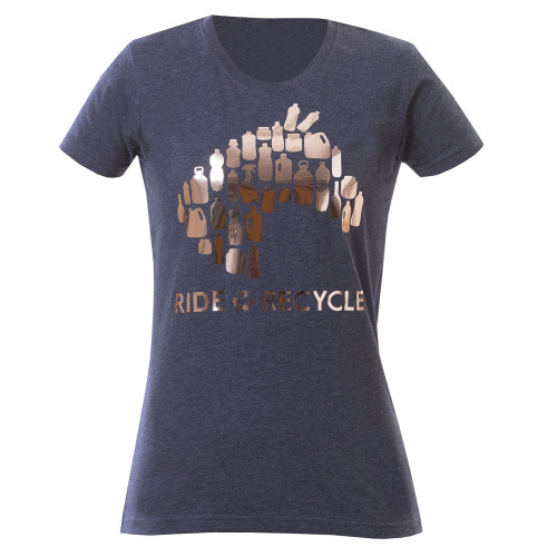 Ride & Recycle - Tee Melange Blue S